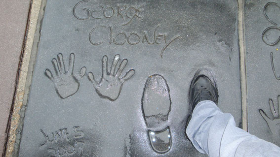 George Clooney's footprint