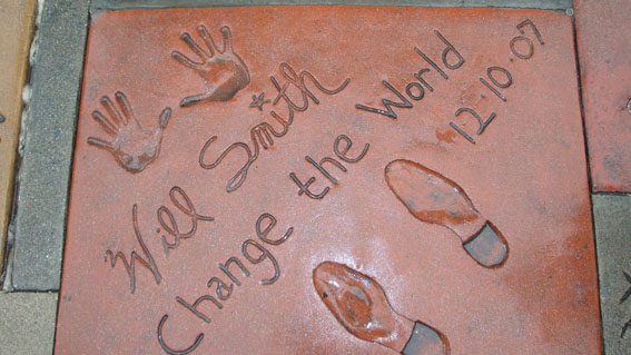 Will Smith's footprint